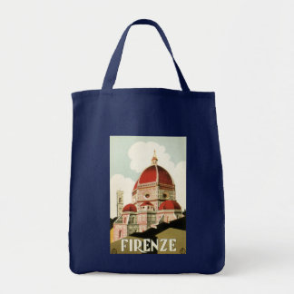 Vintage Travel Florence Firenze Italy Church Duomo Tote Bag