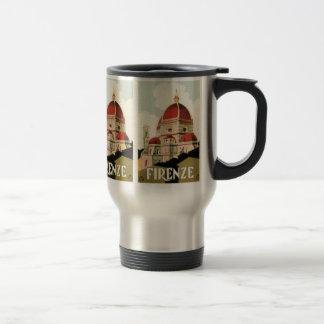 Vintage Travel Florence Firenze Italy Church Duomo Travel Mug