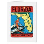 Vintage Travel Florida FL State Label Card