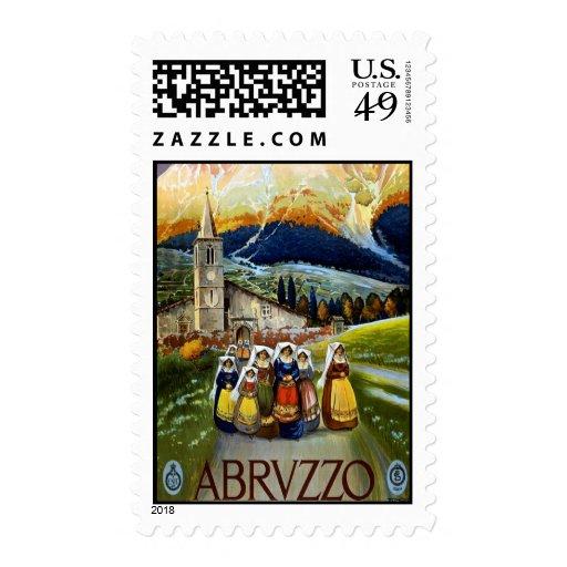 Vintage Travel For Abrvzzo Italy Medium Postage