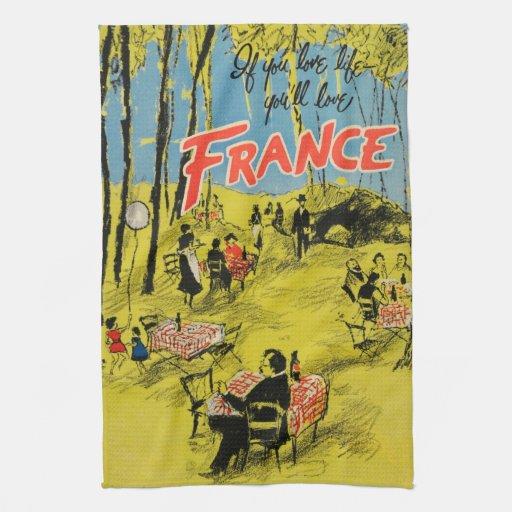 Green Kitchen Travels: Vintage Travel France Green 1950s Kitchen Towels