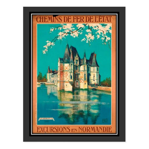 Vintage travel France, Normandy - Post Cards