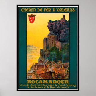 Vintage travel France, Rocamadour - Poster