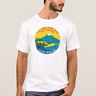 Vintage Travel Fuji Japan Hotel Label Art T-Shirt
