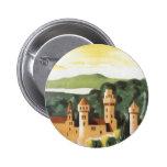 Vintage Travel, German Castle, Bavaria Germany Pinback Button
