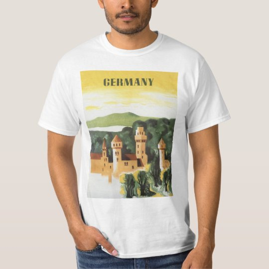 Vintage Travel, German Castle, Bavaria Germany T-Shirt