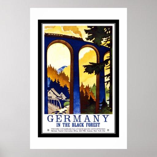 Vintage Travel Germany The Black Forest Poster