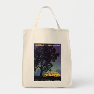 Vintage Travel, Germany, Yellow Bus at Night Canvas Bag