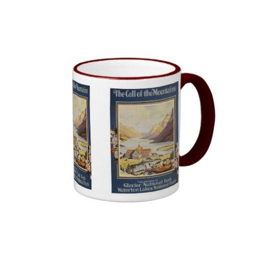 Vintage Travel - Glacier National Park Coffee Mug