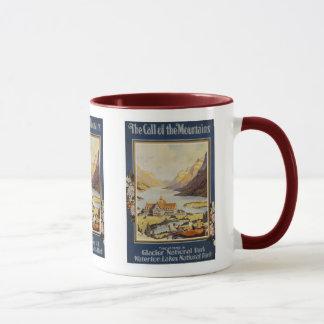 Vintage Travel - Glacier National Park Mug
