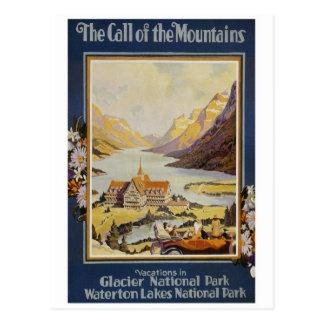 Vintage Travel - Glacier National Park Postcard
