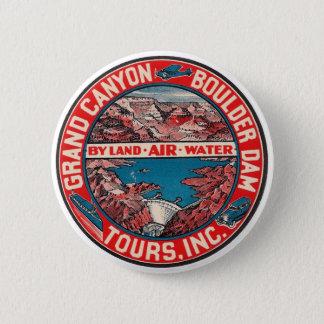 Vintage Travel - Grand Canyon / Boulder Dam Button