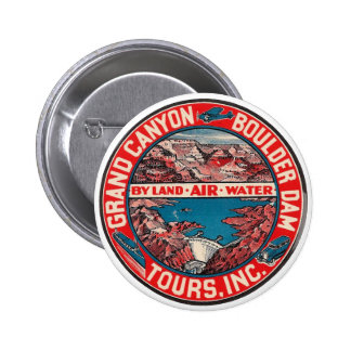 Vintage Travel - Grand Canyon / Boulder Dam Pinback Buttons