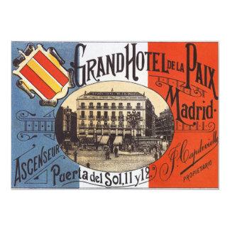Vintage Travel, Grand Hotel Paix, Madrid, Spain Card