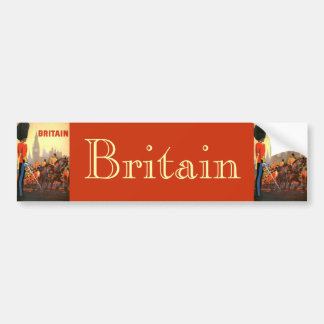 Vintage Travel, Great Britain England, Royal Guard Bumper Sticker