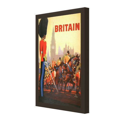 Vintage Travel, Great Britain England, Royal Guard Canvas Print