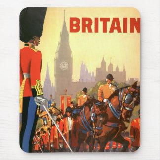 Vintage Travel, Great Britain England, Royal Guard Mouse Pad