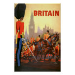 Vintage Travel, Great Britain England, Royal Guard Posters