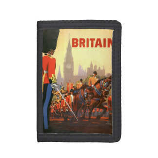 Vintage Travel, Great Britain England, Royal Guard Trifold Wallet