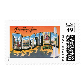 Vintage Travel Greetings from Boston Massachusetts Postage