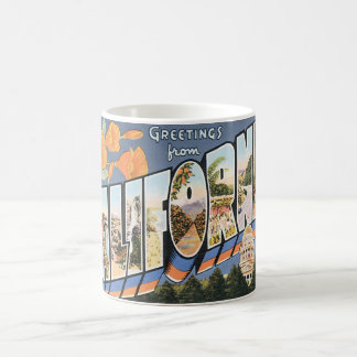Vintage Travel, Greetings from California Poppies Classic White Coffee Mug
