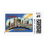 Vintage Travel, Greetings from Chicago Illinois Stamp
