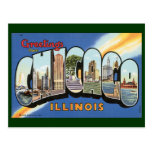 Vintage Travel, Greetings from Chicago Illinois Post Card