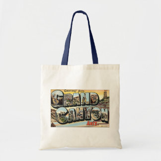 Vintage Travel Greetings from Grand Canyon Arizona Budget Tote Bag