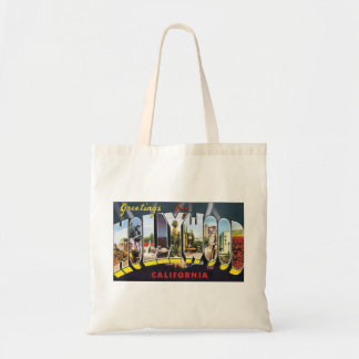 Vintage Travel Greetings from Hollywood California Tote Bag
