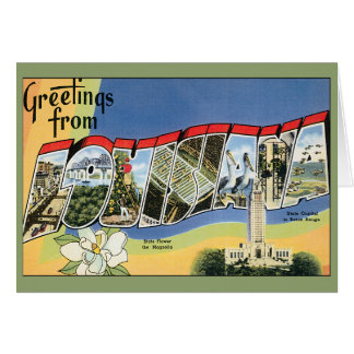 Vintage Travel, Greetings From Louisiana Stationery Note Card