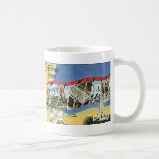 Vintage Travel, Greetings From Louisiana Gulf Classic White Coffee Mug