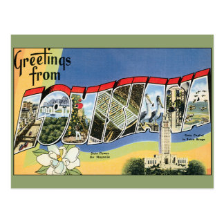 Vintage Travel, Greetings From Louisiana Gulf Postcard