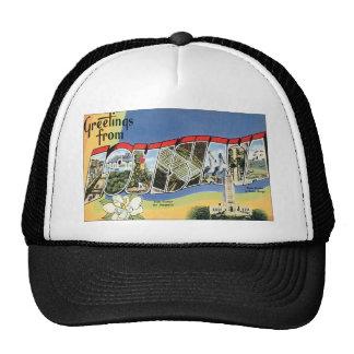 Vintage Travel, Greetings From Louisiana Trucker Hat