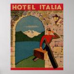 Vintage Travel - Hotel Italia Poster