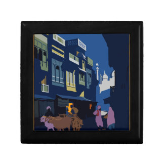 Vintage Travel India A Street By Moonlight Gift Box