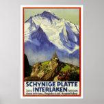 Vintage travel,Interlaken Poster