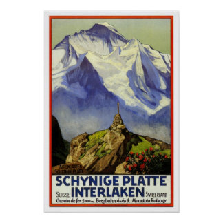Vintage travel,Interlaken Poster