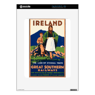 Vintage Travel Ireland Decal For iPad
