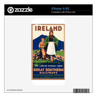 Vintage Travel Ireland Skin For The iPhone 4S