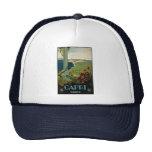 Vintage Travel, Isle of Capri, Italy Italia Coast Trucker Hats