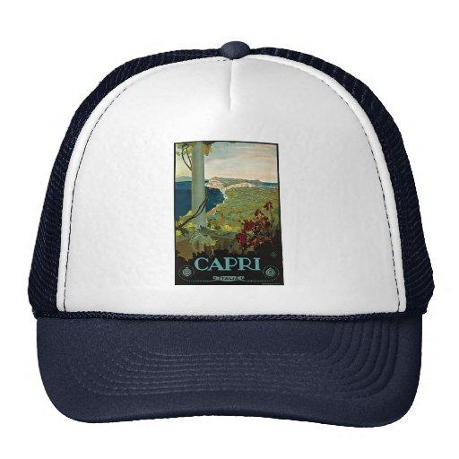Vintage Travel, Isle of Capri, Italy Italia Coast Trucker Hat