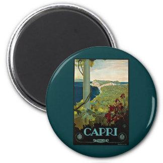 Vintage Travel, Isle of Capri, Italy Italia Coast Magnet