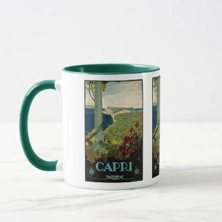 Vintage Travel, Isle of Capri, Italy Italia Coast Mug