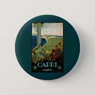 Vintage Travel, Isle of Capri, Italy Italia Coast Pinback Button