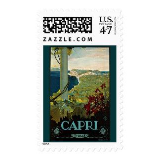 Vintage Travel, Isle of Capri, Italy Italia Coast Postage
