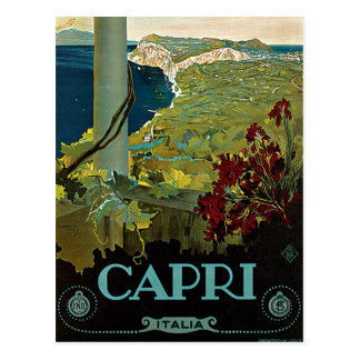 Vintage Travel, Isle of Capri, Italy Italia Coast Postcard