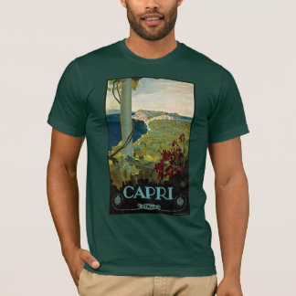 Vintage Travel, Isle of Capri, Italy Italia Coast T-Shirt