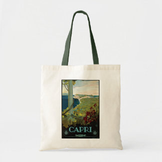 Vintage Travel, Isle of Capri, Italy Italia Coast Tote Bag
