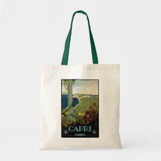 Vintage Travel, Isle of Capri, Italy Italia Coast Tote Bag
