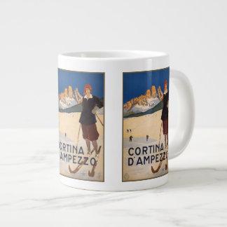 Vintage Travel Italian Alps Italy mugs Jumbo Mug